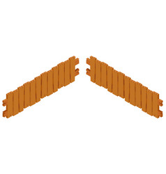 wooden fence design on white background vector image