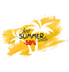 yellow summer sale banner vector image