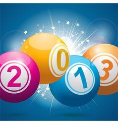 2013 bingo lottery balls vector image