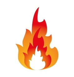 hot flame spurts fire design vector image