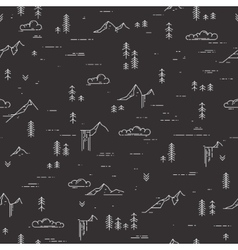 linear seamless pattern with wild landscape vector image vector image