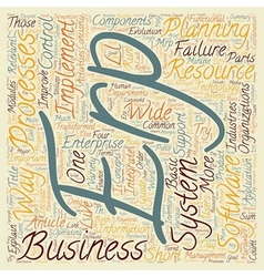 Minute Guide to ERP text background wordcloud vector image