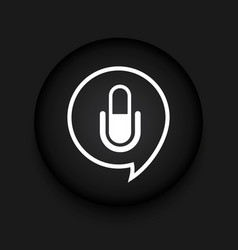 modern microphone black circle icon vector image vector image