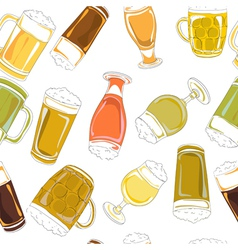 beer pints pattern vector image