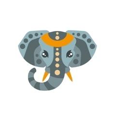Elephant African Animals Stylized Geometric Head vector image vector image
