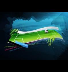 football field graffiti vector image