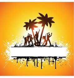 grunge summer party vector image vector image