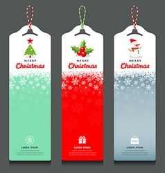 Merry Christmas label and rope vertical design vector image vector image