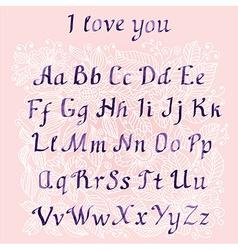 romantic Handwritten watercolor letters vector image