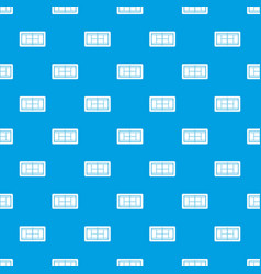 tennis court pattern seamless blue vector image vector image