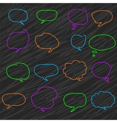 Abstract colorful speech bubbles A set of vector image vector image
