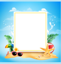 blank square rectangle banner with copy space vector image vector image