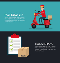 courier worker avatar character vector image vector image