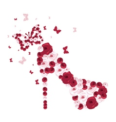 high heel bridal shoe vector image vector image