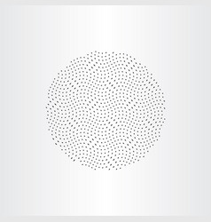 particles in circle design element vector image