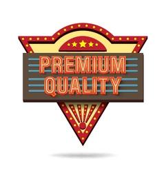 Premium quality retro boarddesign vector image vector image