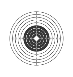 Shooting Target Icon Isolated on White Background vector image