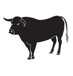 black bull vector image vector image