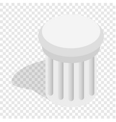 classical column isometric icon vector image