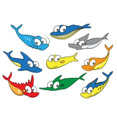 Collection of fish vector image vector image