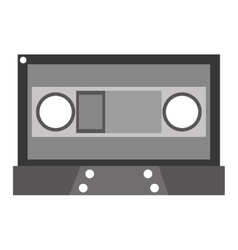 grey cassette tape vector image