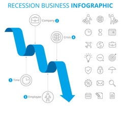 Recession business infographic concept vector