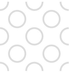 rope frame seamless pattern on white background vector image