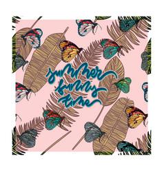 summer tropical card vector image