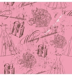 Vintage wedding seamless texture vector image