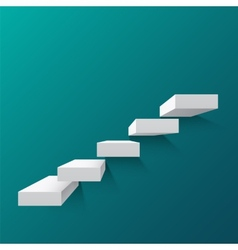 Abstract background with white stairs vector image