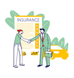 Accident insurance concept agent character vector