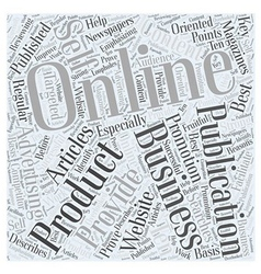Advertising Self Promotion Word Cloud Concept vector image