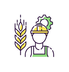 Agricultural engineer rgb color icon vector
