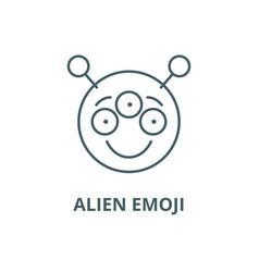 alien emoji line icon alien emoji outline vector image