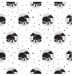 bear black and white tribal seamless vector image