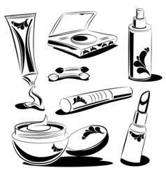 beauty objects vector image