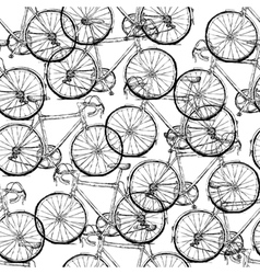 bicycles seamless pattern simple vector image
