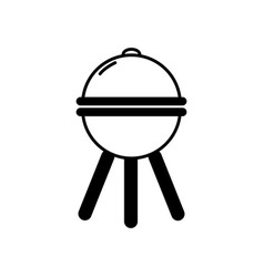 black and white tool bbq vector image