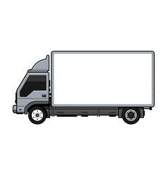 blank transportation truck for cargo on white vector image
