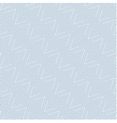 blue geometric seamless pattern with zigzag vector image