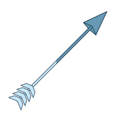 Blue shading silhouette of hunting arrow vector