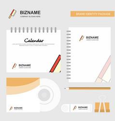 butcher knife logo calendar template cd cover vector image