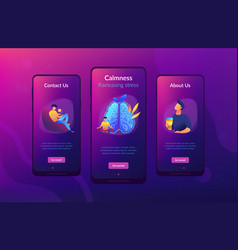 calmness and releasing stress concept app vector image