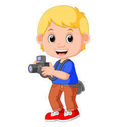 cartoon character photographer vector image