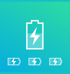 Charging battery recharging icons vector