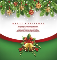 Christmas background traditional straw decorations vector
