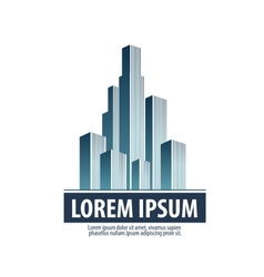 City Skyscrapers on a white background Logo icon vector image