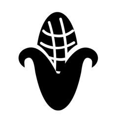 Cob corn isolated icon vector