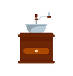 coffee mill icon flat style vector image