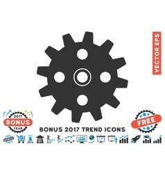 Cogwheel Flat Icon With 2017 Bonus Trend vector image vector image